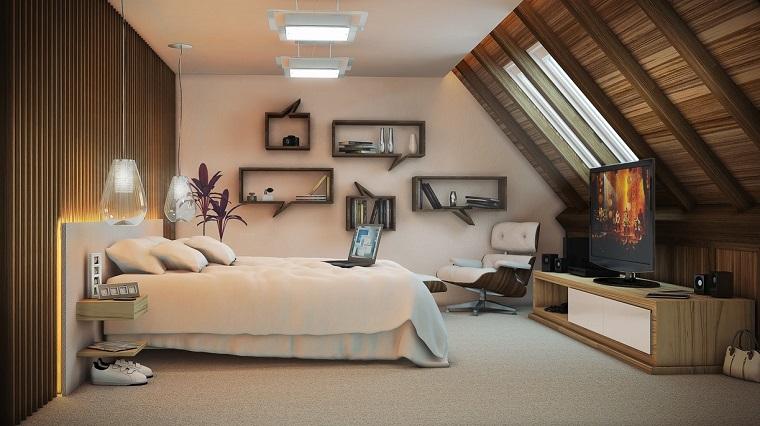 colori pareti camera da letto-bianco-legno