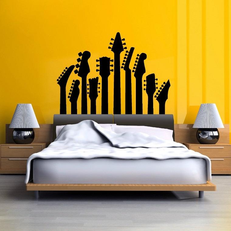 colori pareti camera da letto-giallo-decorazioni