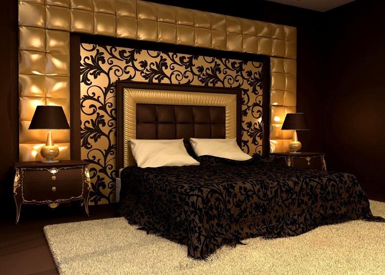 colori-pareti-camera-da-letto-oro-marrone