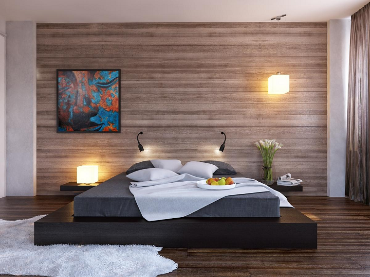 colori pareti camera da letto-pannelli-legno