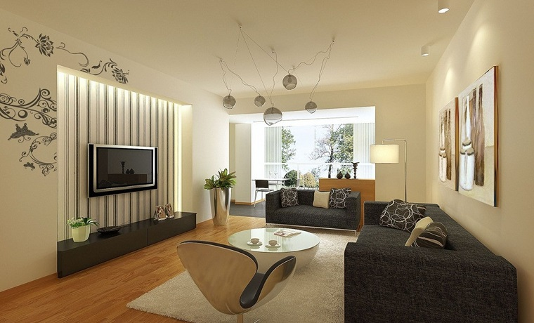 colori pareti casa-beige-abbinate-divani-grigi