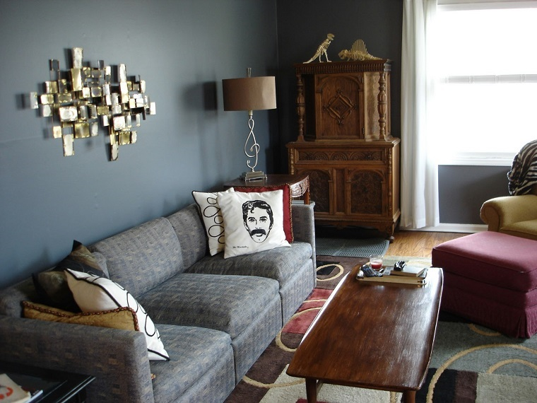 come pitturare casa-pareti-azzurre-living
