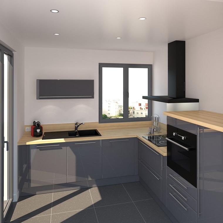 cucine-ad-angolo-moderne-mobili-grigi-laccati