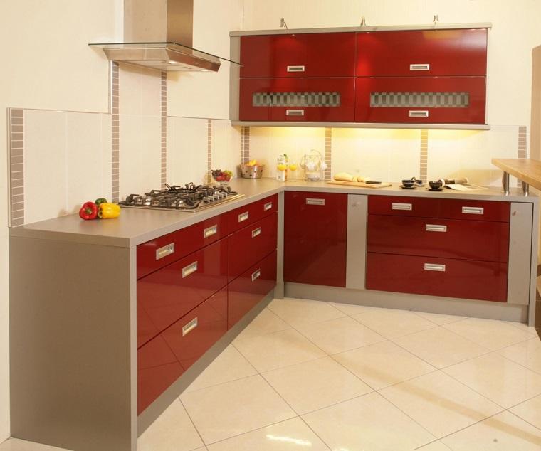 cucine-ad-angolo-moderne-mobili-rossi-grigi