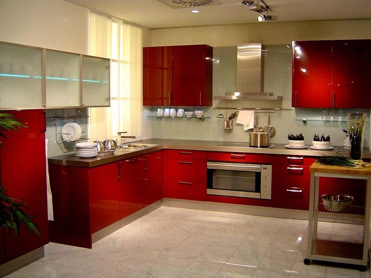 cucine-ad-angolo-moderne-mobili-rossi-scuri