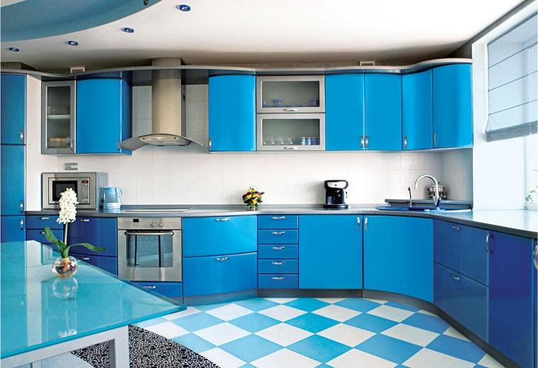 cucine moderne ad angolo-azzurre-blu