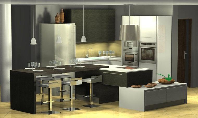 cucine moderne ad angolo-design-originale