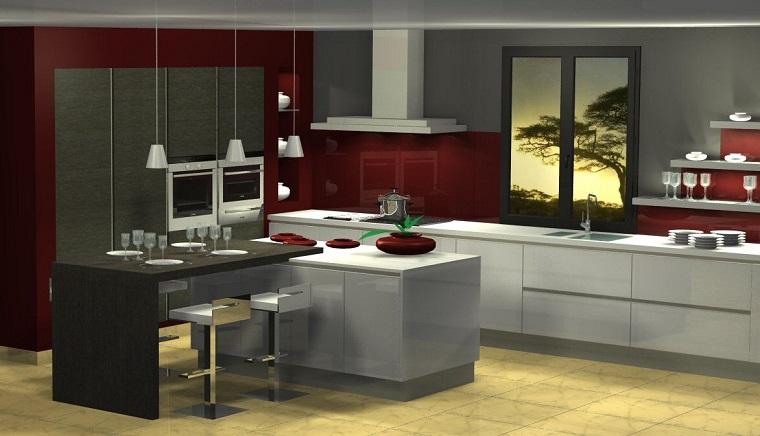 cucine moderne ad angolo-dimensioni-ampie