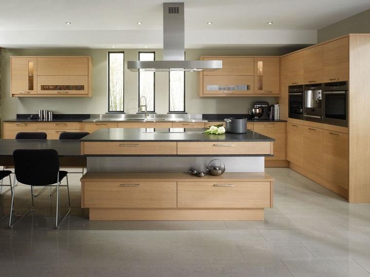 cucine moderne ad angolo-grande-isola-centrale