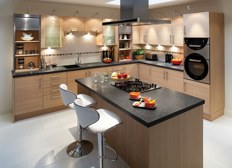 Amazing Cucine Moderne Ad Angolo Con Isola Ideas - Comads897 ...