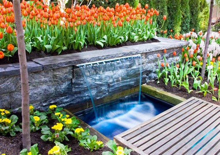fontane da esterno-fiori-legno