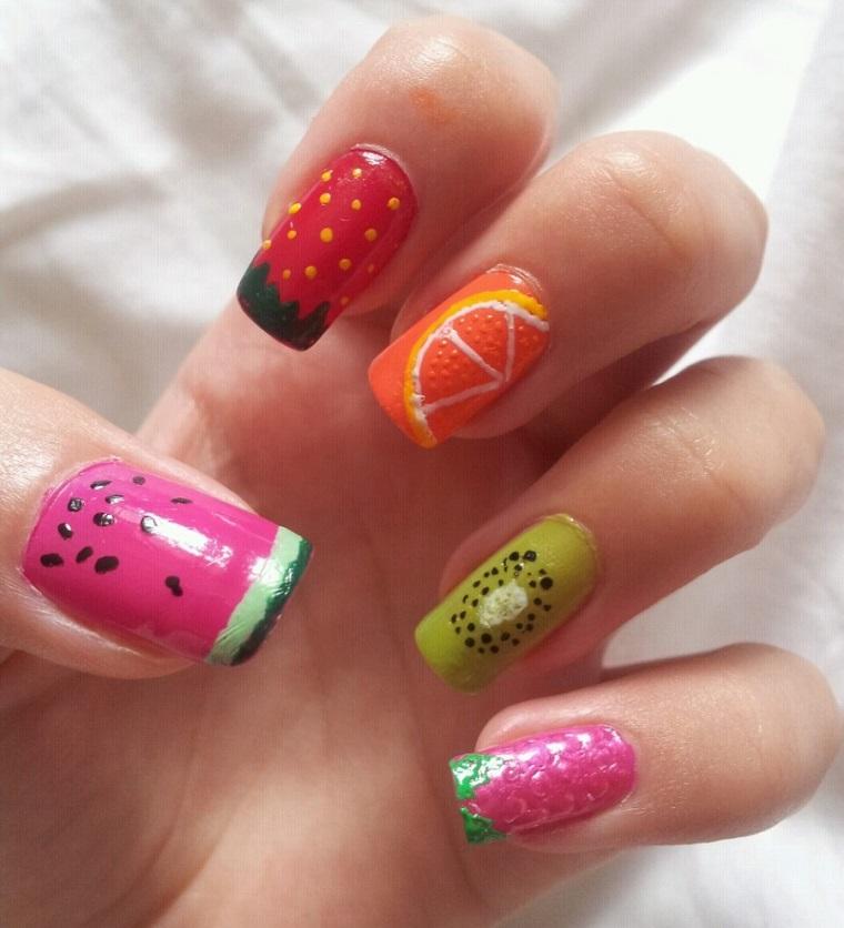 gel-manicure-idea-frutta-estiva