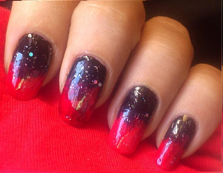gel-manicure-idea-marrone-rosso