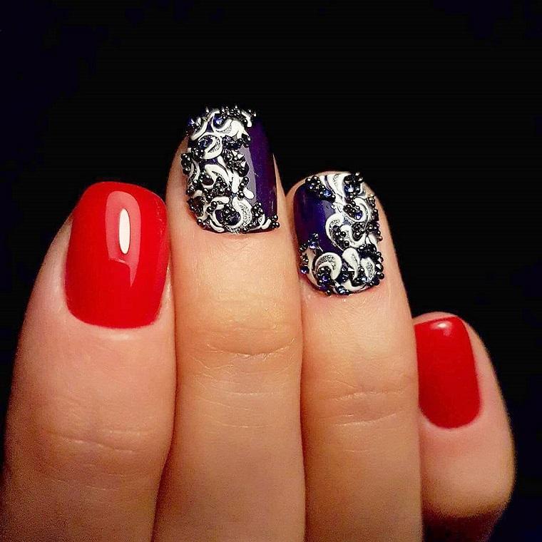 gel-manicure-rosso-nero-decorazioni