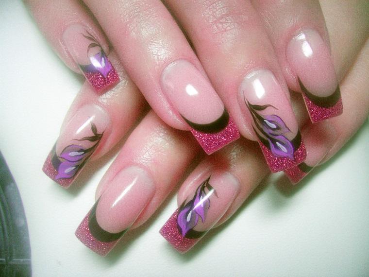 gel-nail-art-glitter-fucsia