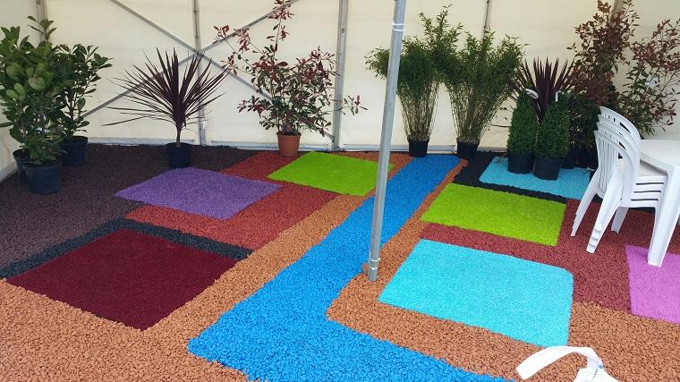 ghiaia per giardino-idea-multicolor