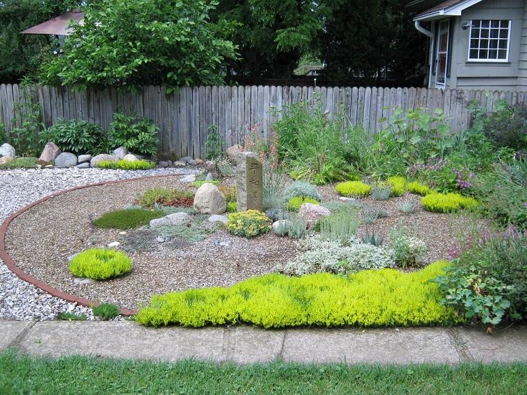 ghiaia per giardino-idea-stile-giapponese
