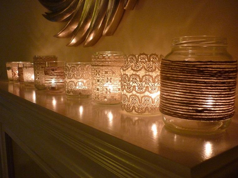 idee fai da te casa-barattoli-candele