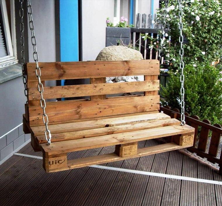 idee fai da te giardino-altalena-pallet