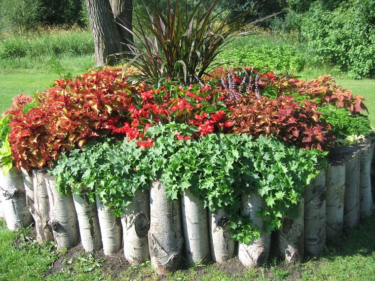 idee fai da te giardino-idea-aiuola