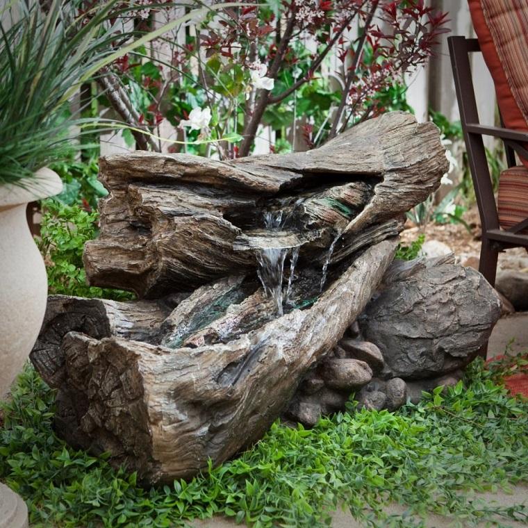 idee fai da te giardino-idea-fontana