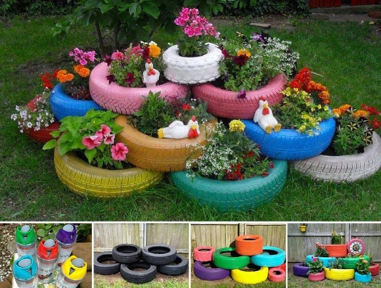 idee-fai-da-te-giardino-vasi-copertoni