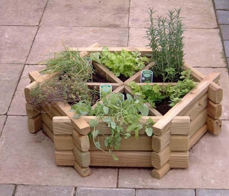 idee fai da te giardino-vasi-piante-aromatiche