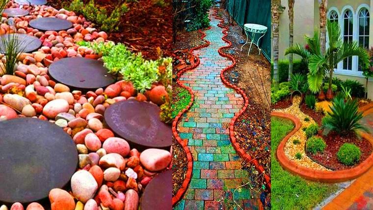 idee fai da te giardino-vialetti-ghiaia
