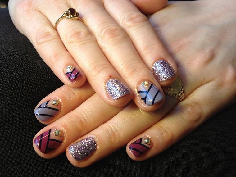nail art gel-anulare-argento