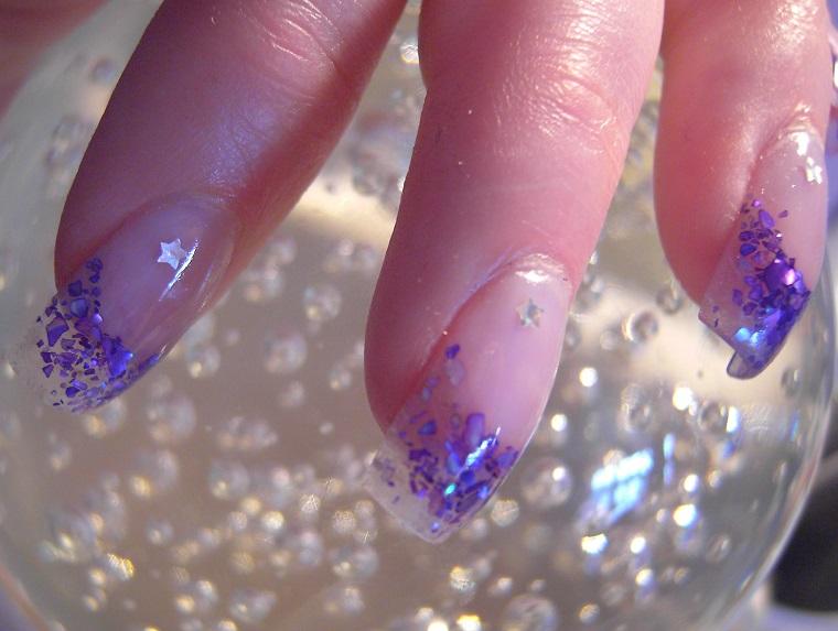 nail art gel-brillantini-cobalto