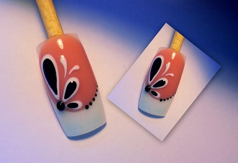 nail art gel-decorazione-nera