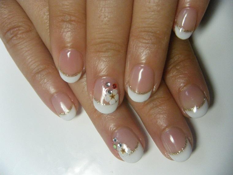 nail art gel-french-elegante