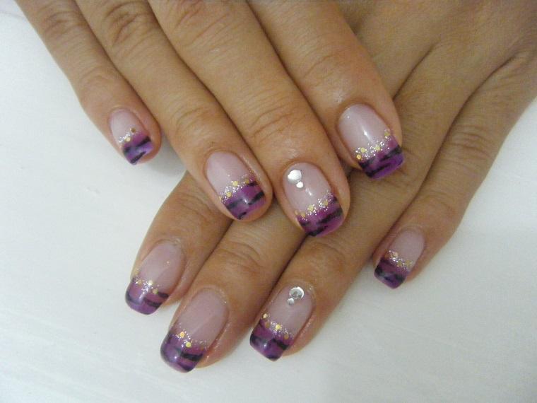nail art gel-french-originale