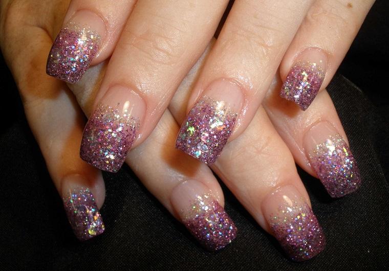 nail art gel-glitter-viola