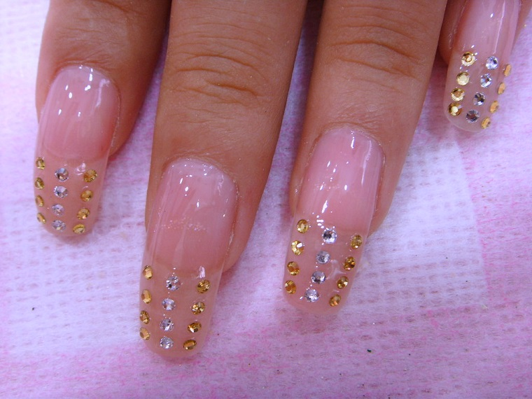 nail art gel-idea-brillantini
