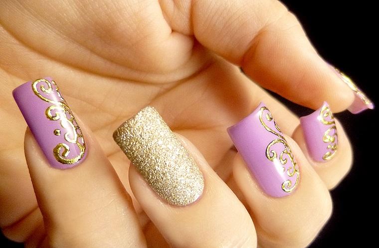 nail art gel-idea-dorata