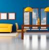 pareti-colorate-blu-soggiorno-moderno