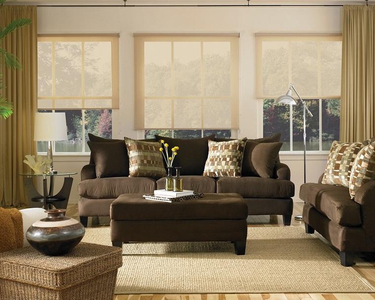 shabby-chic-idea-salotto-sofa-marroni