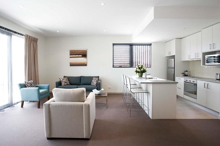 soggiorno con angolo cottura: a vista è bello e anche funzionale ... - Foto Soggiorno Con Angolo Cottura