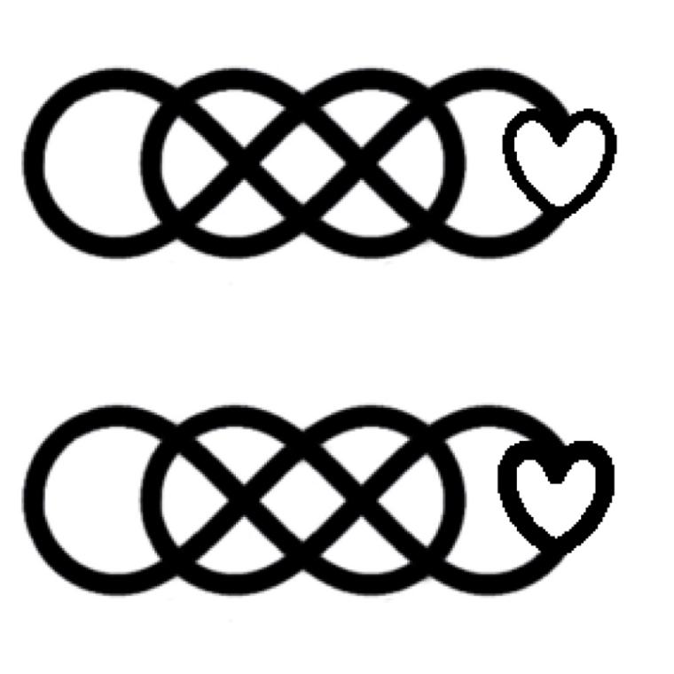 tatuaggio infinito-disegno-cuore-fondo