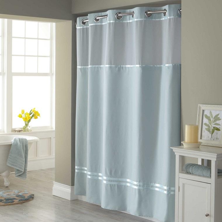 Tende bagno dal moderno all 39 elegante tante soluzioni per ogni stile - Tende da bagno moderne ...