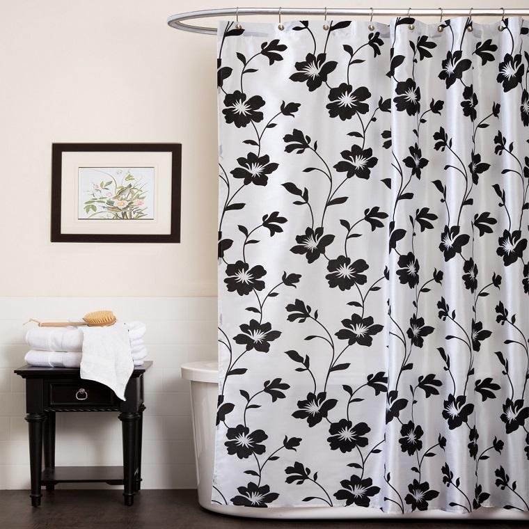 tende-per-bagno-idea-bianco-nero-fiori