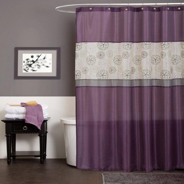 tende-per-bagno-idea-viola-grigio