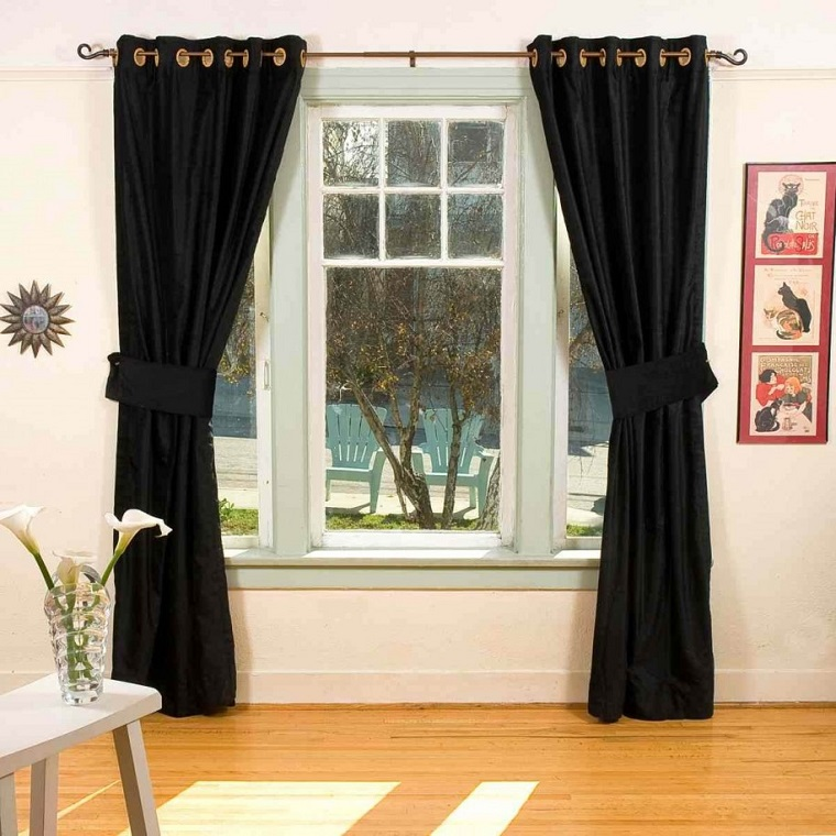 Tende soggiorno 25 idee per valorizzare la zona living - Black and gold living room curtains ...