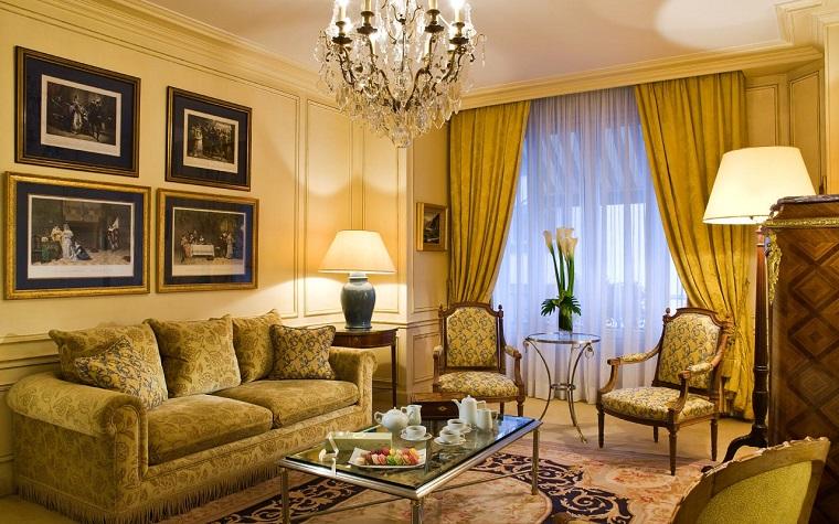 Tende soggiorno 25 idee per valorizzare la zona living - Tende per soggiorno classico ...