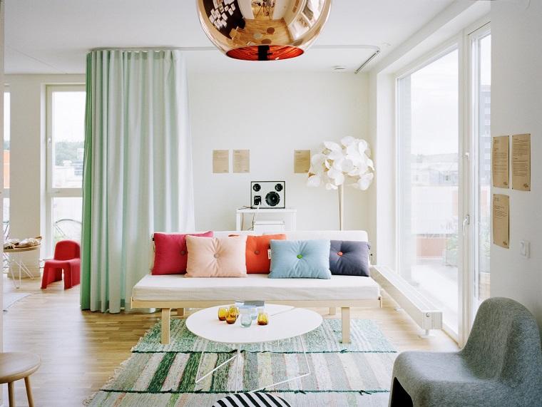 tende-per-soggiorno-verde-chiaro