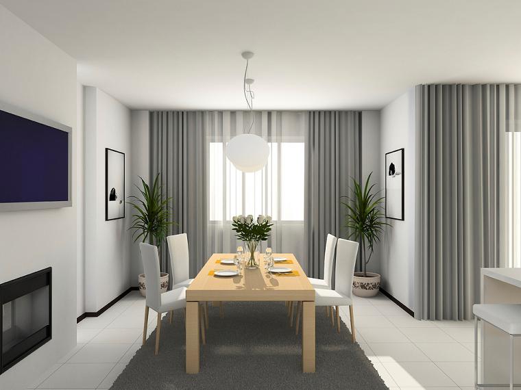 Tende soggiorno 25 idee per valorizzare la zona living for Soggiorno grigio
