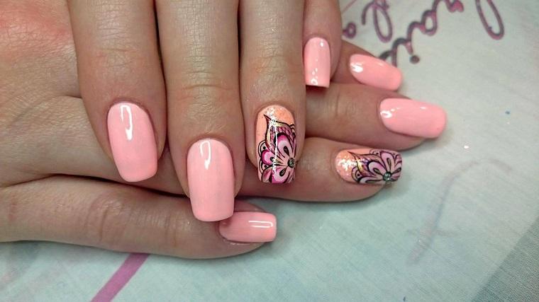 unghie-colorate-color-pesca-anulare-decorato