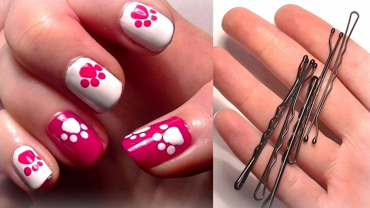 unghie-gel-nail-art-bianco-fucsia