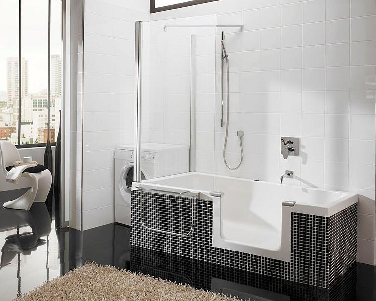 Vasca doccia combinata la soluzione perfetta tutto in uno - Vasca da bagno nera ...